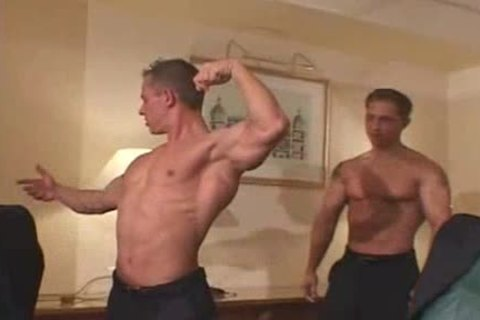 3 Bick dong Muscle dudes cum everywthis chabre