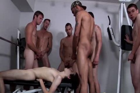 Shy twink receives His Very First Bukkake gangbang