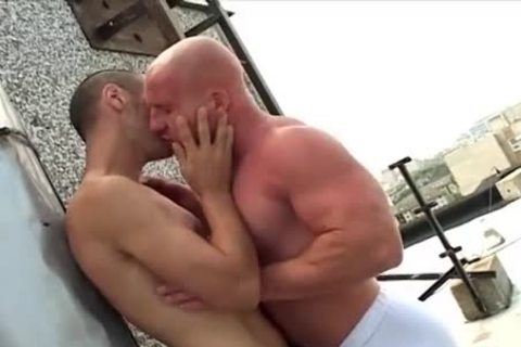 bald oral Muscle chap plows His Skinny ally